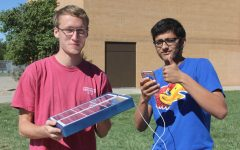 Students build solar powered phone charger