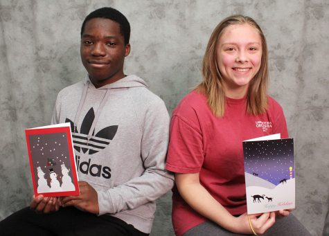 Students design cards for schools foundation