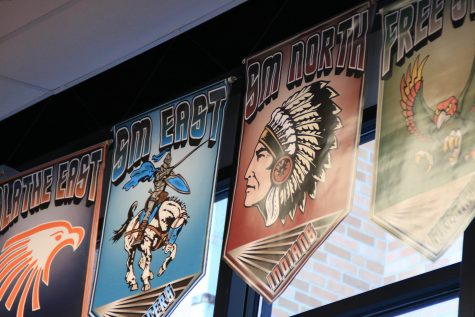Shawnee Mission North banner removed from gym