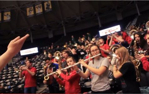 VIDEO: Pep band plays fight song at state semifinal game (GO PRO)