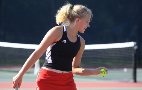 PHOTOS: Tennis team beats Manhattan