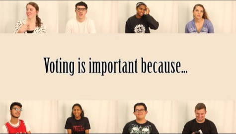 Students express opinions about voting