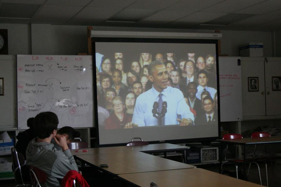 PHOTOS: Students watch Obama speech in classes