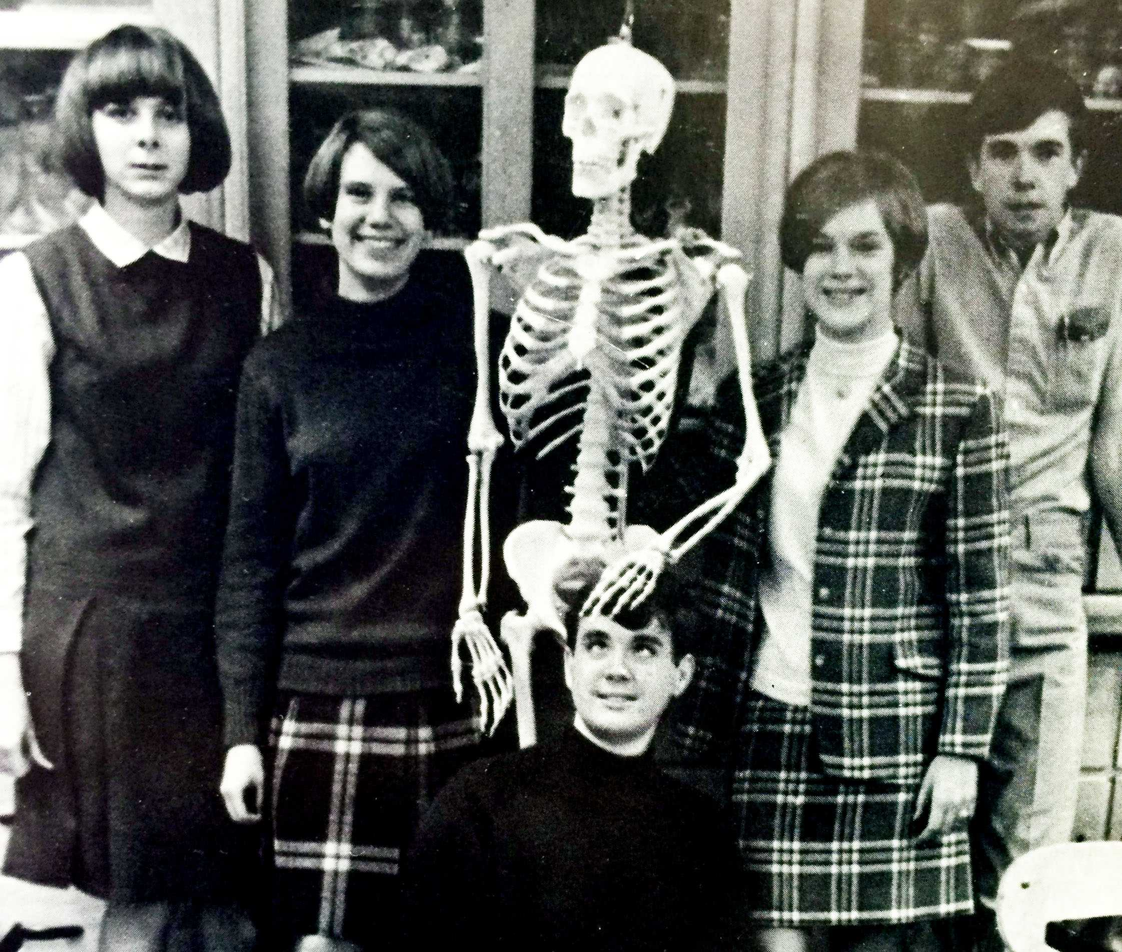 Biology Club photo from the 1969 Red & Black yearbook.