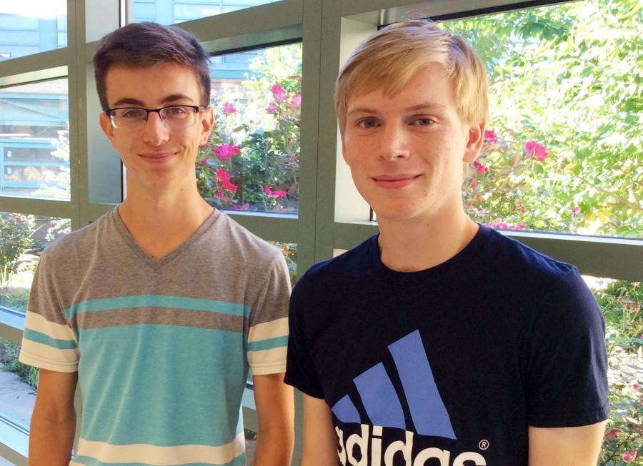 Seniors Kai Blosser and Andrew Bell are semifinalists in the National Merit Scholar competition.