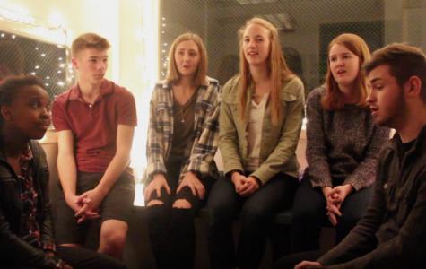 Choir students sing Christmas songs