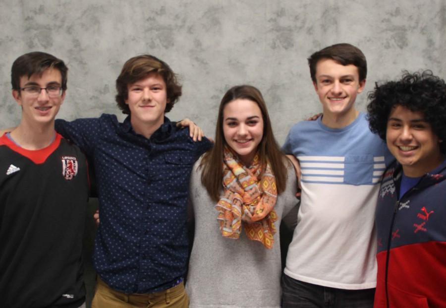 Senior Kai Blosser, junior Noah Mercer, junior Emma Posler, junior Darius Hart  and senior Joaquin Dorado are a few members of the Young Democrats Club, which was restarted this year.