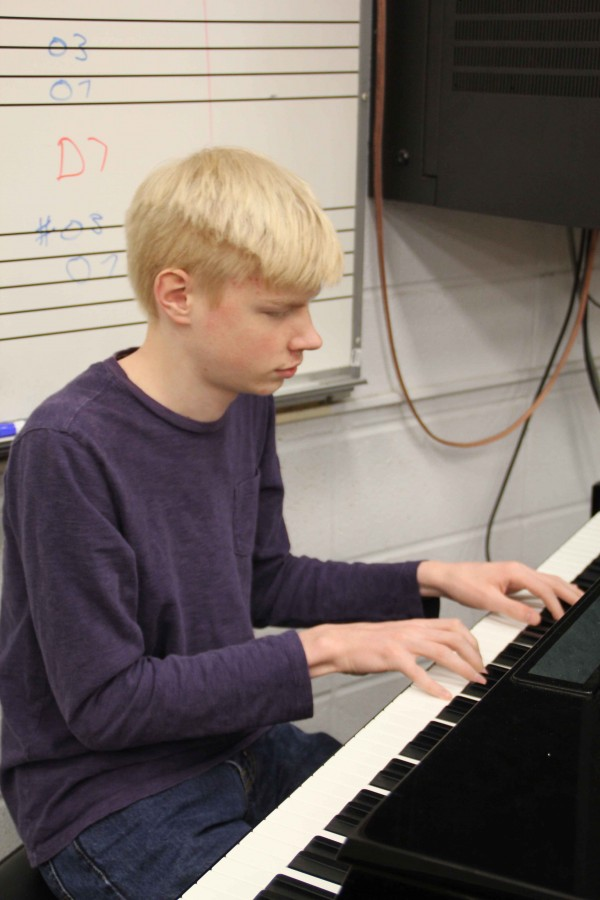 Sophomore Luther Fuller plays the keyboard. Fuller has been blind since he was 11 months old.