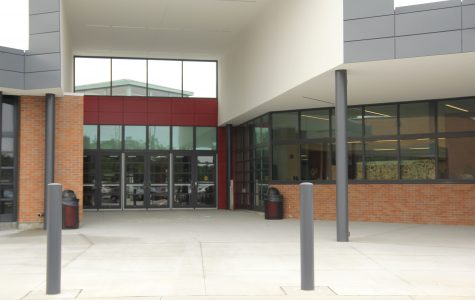 The construction to the main doors and parking lot are finished.