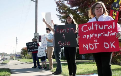 VIDEO: Students and Staff protest Spirit Halloween Stores
