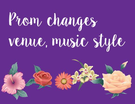 Change in prom venue, type of music