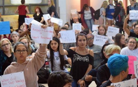 Sit-in protests transphobic comments