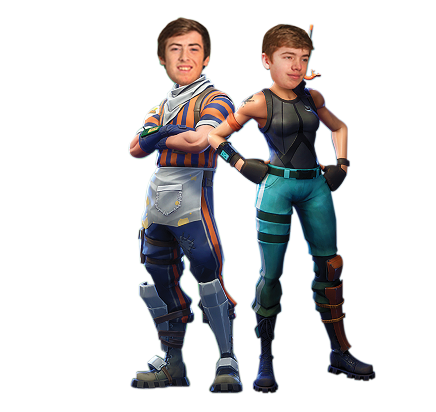 Seniors Nathan Stoddard and Andrew Severn have begun a professional Fortnite team. Here, their images are mixed with some of their favorite characters.