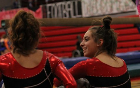 Girls gymnastics place second at state championship