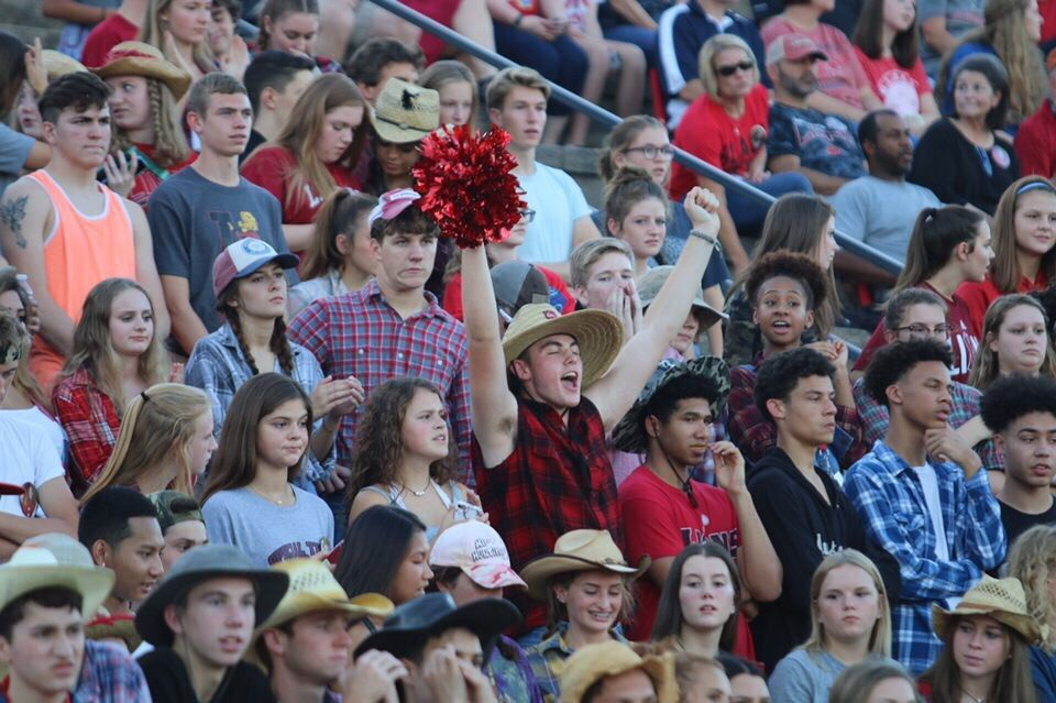 Junior Ryan Lauts cheers enthusiastically at a LHS home football game September 15th.