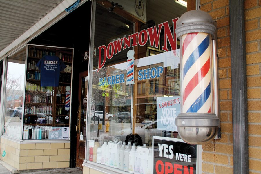 Master+planning+for+downtown+Lawrence+could+affect+local+businesses+like+the+Downtown+Barbershop.%0A