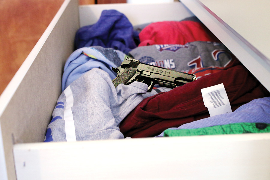 About 4.6 million American children and minors live a home with at least one loaded and unlocked firearm, according to the Giffords Law Center. Three guns brought to LHS this school year came from home.