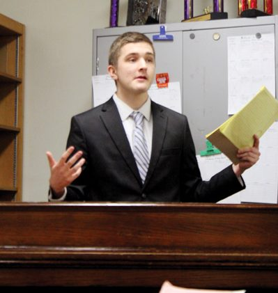 "Sophomore Anthony Racy gives an authorship for congressional debate about the abolition of the TSA. ""I like congressional debate because it is a good place to discuss and debate U.S. economics and politics at a competitive level,"" Racy said. ""I am looking forward to debating with some of the best people at congressional debate in the nation and beating them."""
