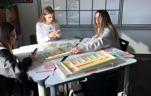 Students pass time during power outage