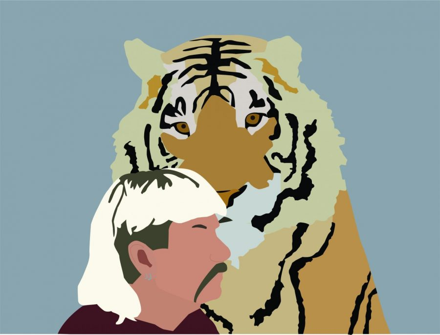Netflix%27s+new+hit+series+%22Tiger+King%22+focuses+on+large+cat+owner%2C+Joe+Exotic%2C+and+the+mayhem+that+surrounds+him.