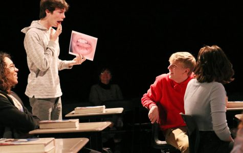 Acting with passion, junior Connor Cooper gives an Oscar-winning performance as