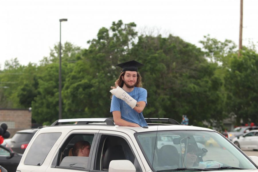 Seniors streamed through the LHS parking lot on Wednesday night to cheers from teachers and staff as they marked the end of a school year cut short by the coronavirus pandemic. The Celebrate the Date event took place on what was originally scheduled as the date of graduation. Graduation has been moved to July.