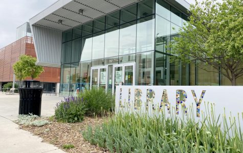 The Lawrence Public Library building has been quiet during closures stemming from the coronavirus pandemic and Gov. Laura Kelly's stay at home order.