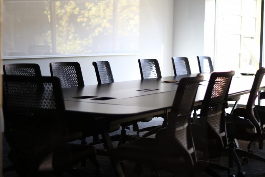 The new conference room features lots of natural lighting.