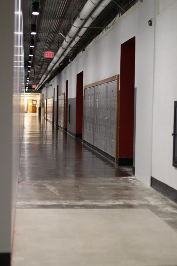The social studies and English hallways are now one way only, with students needing to walk to the end of the hallway on the ground floor before going to their classrooms on the second.