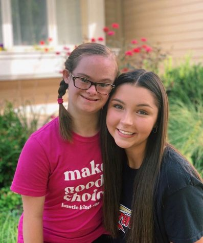 Seniors Gracie Flannigan and Katherine Stineman pose for an instagram photo to announce they have been selected to represent Kansas for Special Olympics North America.