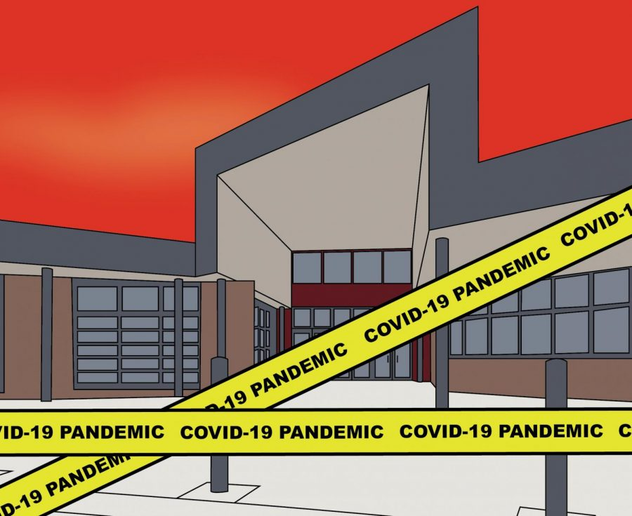 Lawrence High school has been impacted by the COVID-19 pandemic.