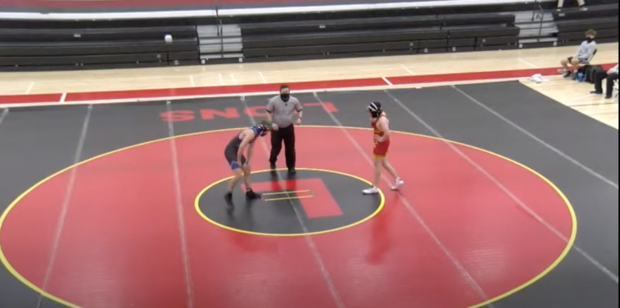 Room 125 Productions live stream of first home wrestling meet against Gardner-Edgerton High School on Dec. 2.