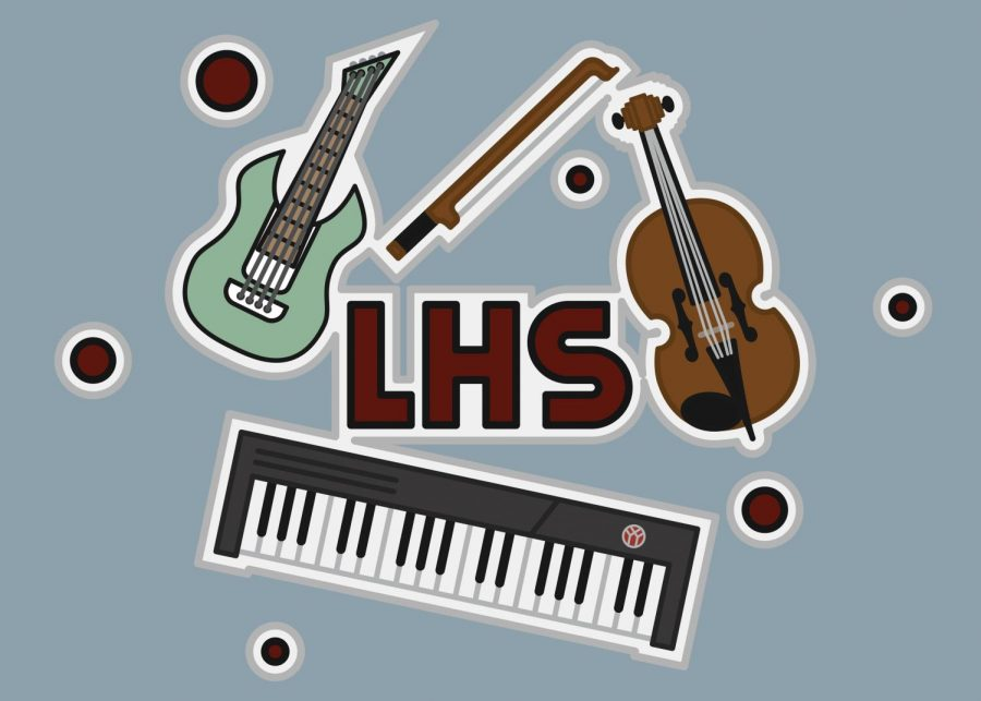 LHS+teachers+are+heavily+involved+in+the+music+scene.+Graphic+by+Asher+Wolfe.+
