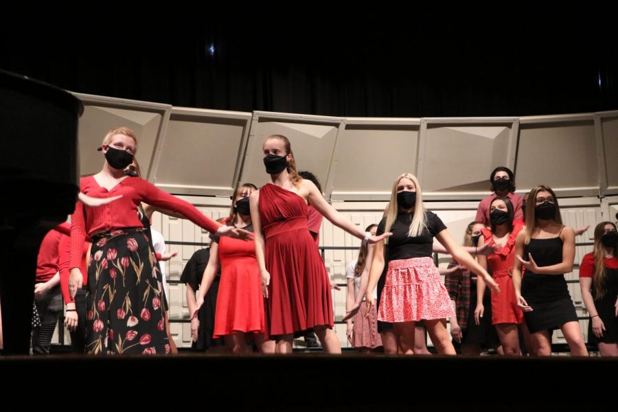 Choir members returned to the stage to perform a series of concerts starting in early May.